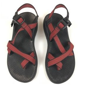 Chaco Z/2 Sport Hiking Water Sandals Red Strappy